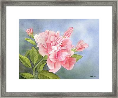 Double Hibiscus Framed Print by Leona Jones