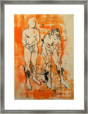 Double Male Nude Framed Print