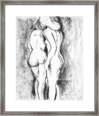 Double Nudes Framed Print by Elena Irving