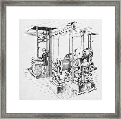 Double Oscillating Steam Engine Framed Print