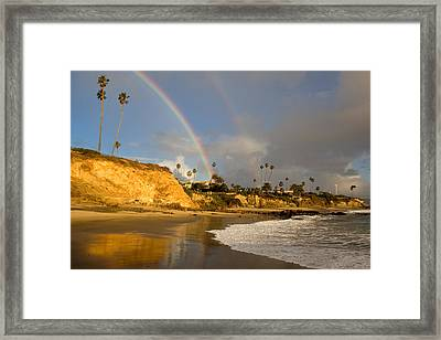 Double Raibow Over Laguna Beach Framed Print