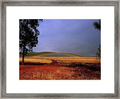 Double Rainbow Ridge Framed Print by Cindy Wright