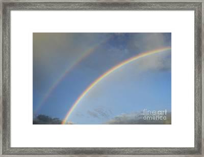 Double Rainbow Framed Print by Sami Sarkis