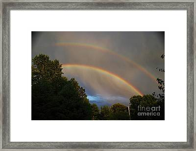 Double Rainbow Framed Print by Science Source