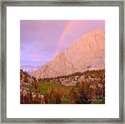 Double Rainbow Framed Print by Scott McGuire
