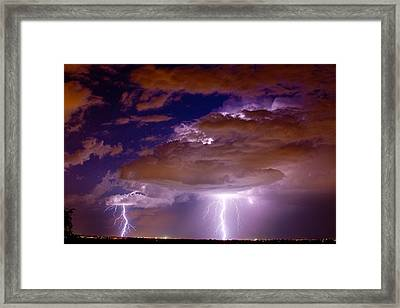 Double Trouble Lightning Strikes Framed Print