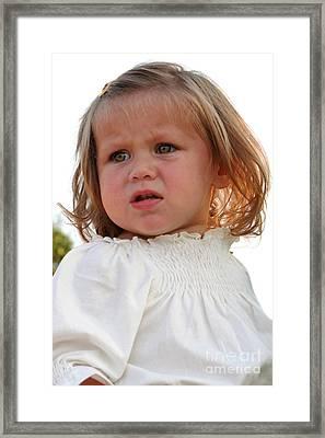 Doubting Face Framed Print by Susan Stevenson