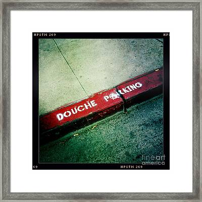 Douche Parking Framed Print by Nina Prommer