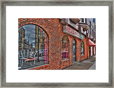 Framed Print featuring the photograph Dough Bois Pizza by Michael Frank Jr