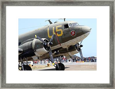 Douglas C47 Skytrain Military Aircraft 7d15774 Framed Print by Wingsdomain Art and Photography