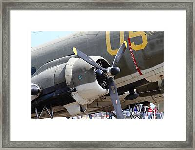 Douglas C47 Skytrain Military Aircraft 7d15775 Framed Print by Wingsdomain Art and Photography