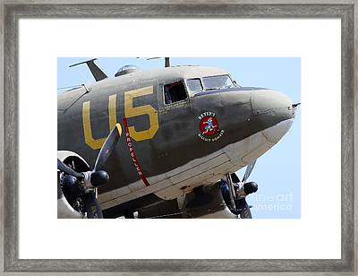 Douglas C47 Skytrain Military Aircraft 7d15776 Framed Print by Wingsdomain Art and Photography