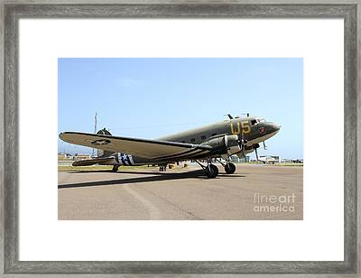 Douglas C47 Skytrain Military Aircraft 7d15786 Framed Print by Wingsdomain Art and Photography