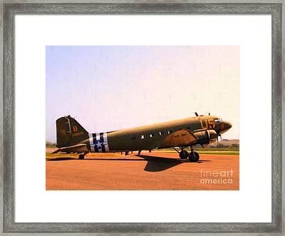 Douglas C47 Skytrain Military Aircraft . Painterly Style 7d15788 Framed Print by Wingsdomain Art and Photography