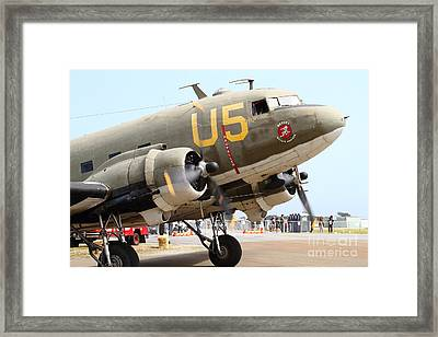 Douglas C47 Skytrain Military Aircraft . Spinning Propellers 7d157838 Framed Print by Wingsdomain Art and Photography