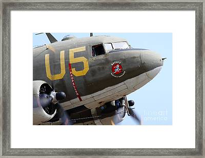 Douglas C47 Skytrain Military Aircraft . Spinning Propellers 7d157841 Framed Print by Wingsdomain Art and Photography