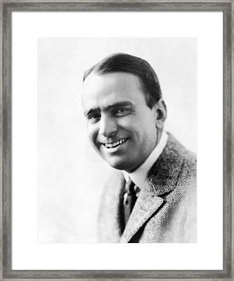 Douglas Fairbanks, Sr., Ca. 1910s Framed Print