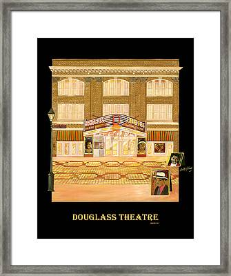 Douglass Theatre Framed Print by Leah Holland