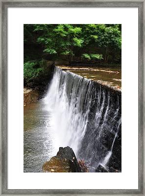 Dove Lake Waterfall - Gladwyne Framed Print