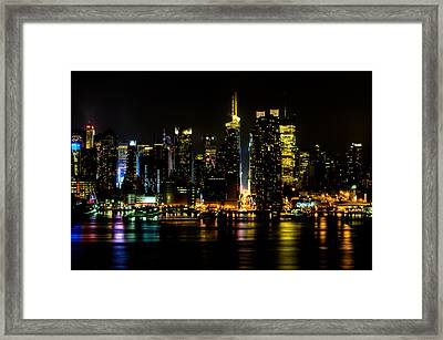 Down 42nd Street Framed Print by David Hahn