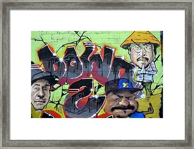 Down And Out Framed Print by Fraida Gutovich