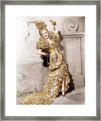 Down Argentine Way, Betty Grable, 1940 Framed Print by Everett
