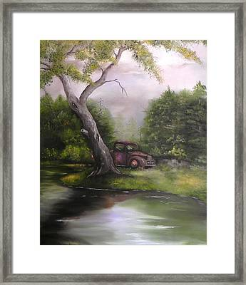 Down By The Lake Framed Print by Laura Brown