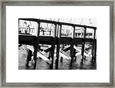 Down By The Marina Framed Print by Nicholas Evans