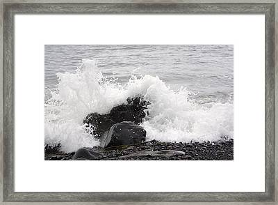 Down By The Seashore Framed Print by Angi Parks