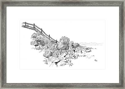 Framed Print featuring the drawing Down East Transport by Brent Ander