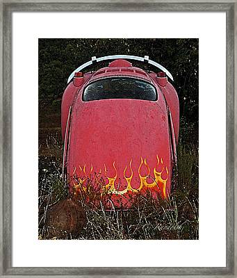 Framed Print featuring the photograph Down In Flames by Cheri Randolph