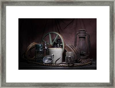 Down On The Farm Still Life Framed Print by Tom Mc Nemar