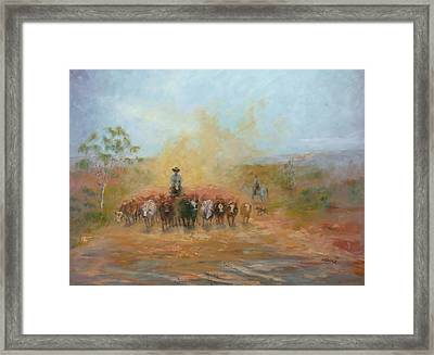 Down The Barcoo II Framed Print by Marie Green