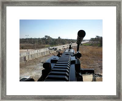 Down The Barrel Framed Print by Joanne Kocwin