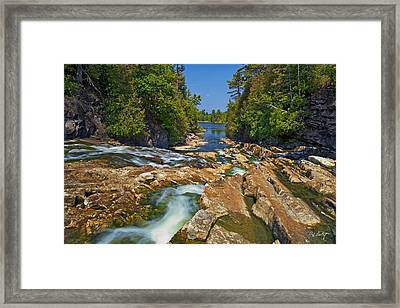 Down The Bonnechere Framed Print by Phill Doherty