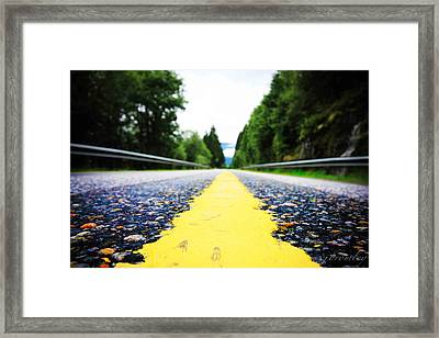 Down The Line Framed Print by Chad Bromley