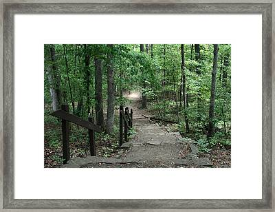 Down The Trail Framed Print by CGHepburn Scenic Photos