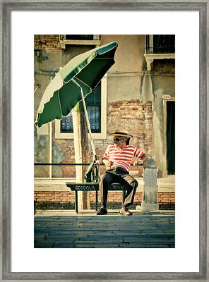Down Time Framed Print