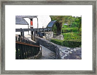Framed Print featuring the photograph Down To The Mill by Charlie and Norma Brock