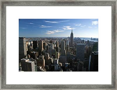 Down Town View Framed Print by Avery Eden