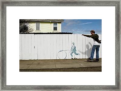 Downhill Buddy Framed Print