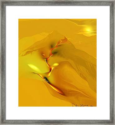 Downhill Racer Framed Print