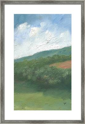 Downland And Trees Framed Print by Alan Daysh