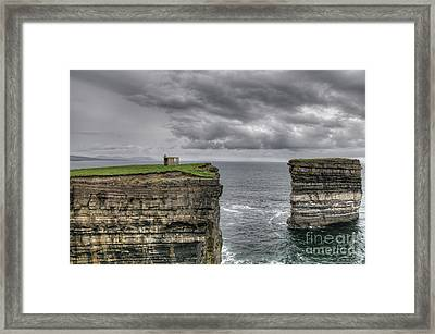 Downpatrick Head Lookout Tower Framed Print by Marion Galt