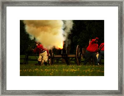 Downrange Of The Cannon Framed Print by Jonathan Bateman