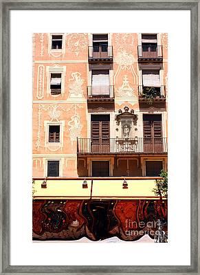 Downtown Barcelona Framed Print by Sophie Vigneault