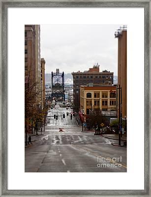Downtown Framed Print by Billie-Jo Miller