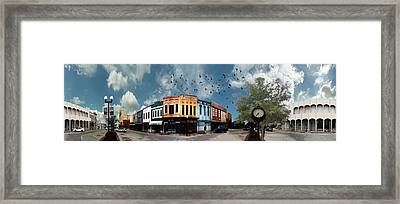 Downtown Bryan Texas 360 Panorama Framed Print