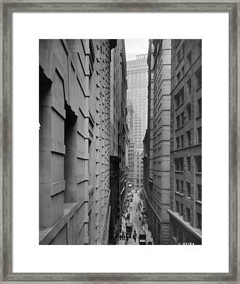 Downtown Canyon Framed Print by R Gates