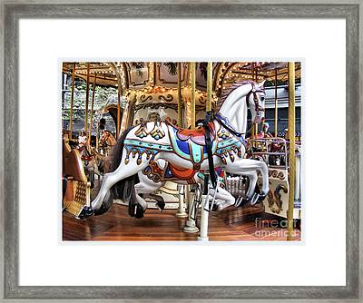 Downtown Carousel Framed Print
